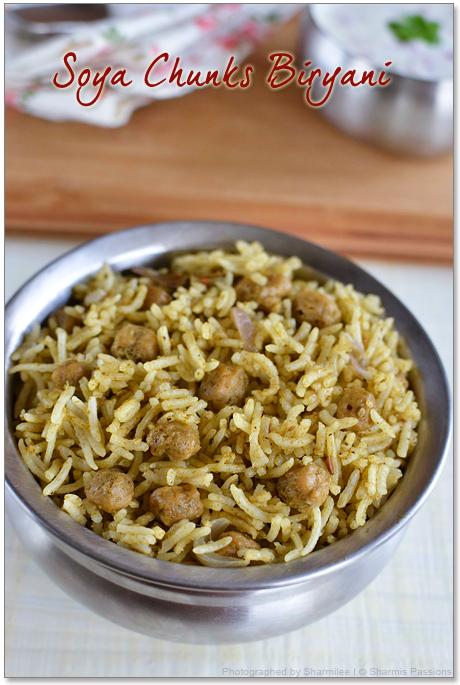 Soya Chunks Biryani Recipe