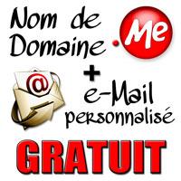 NDD .me mail personnalisé gratuit