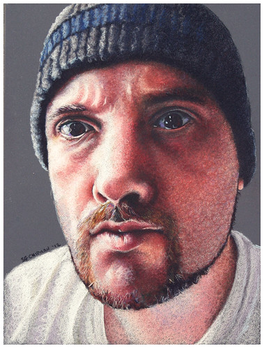 Colored pencil drawing entitled Self Portrait IX
