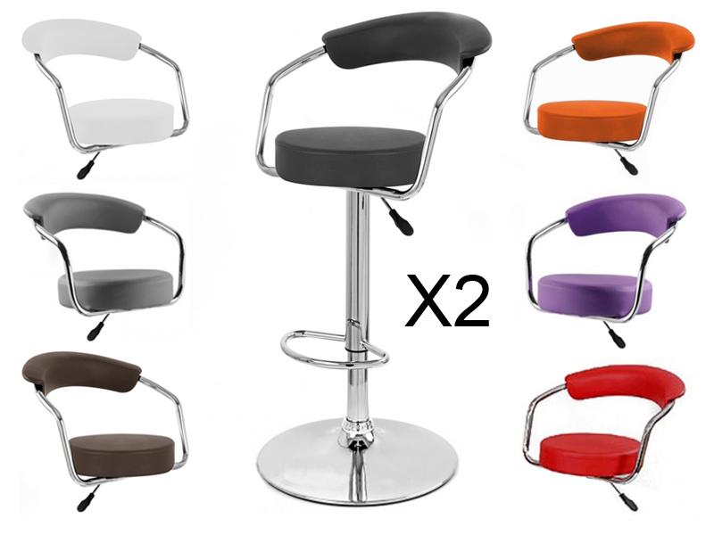 Tabouret de bar x 2 retro coiffeur design neuf chaise - Assise pour tabouret de bar ...
