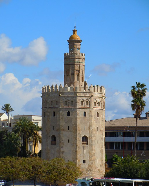 Senor Del Biombo Las Torres Albarranas De Sevilla La Torre De Oro
