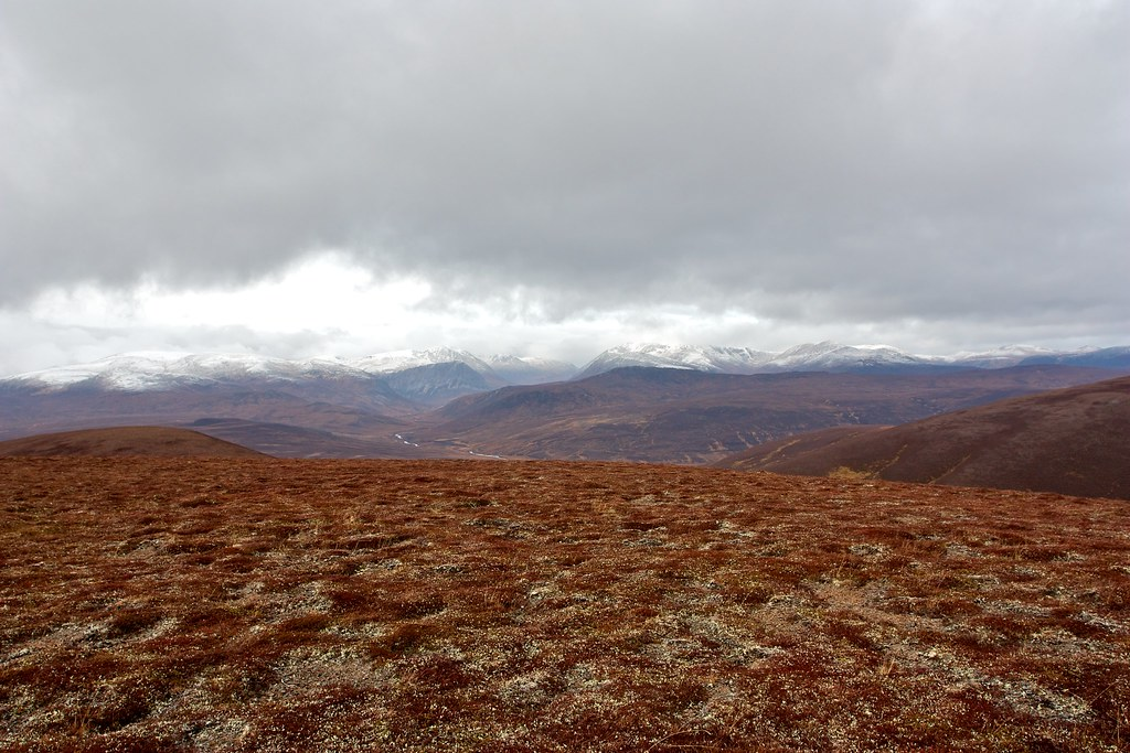 The Cairngorms beyond Glen Dee