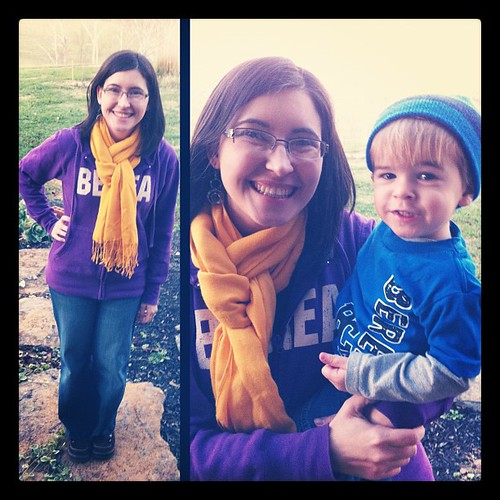 Liam and I wore our #Berea shirts today! #fashiondiaries