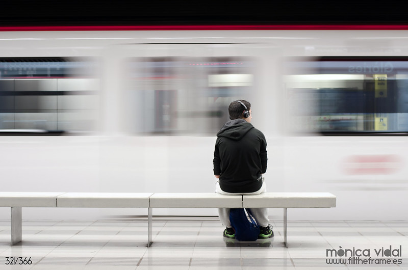 321/366. Barcelona, 20:28. El metro y yo.