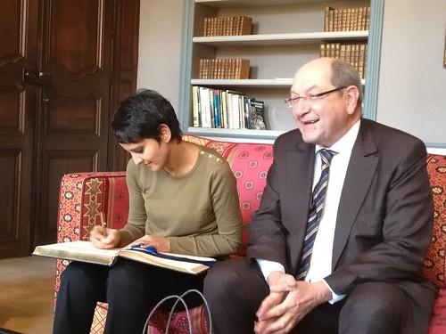 Avec le Maire de Caen, Philippe Duron