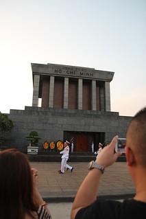 Image of Ho Chi Minh Mausoleum near Quận Ba Đình.