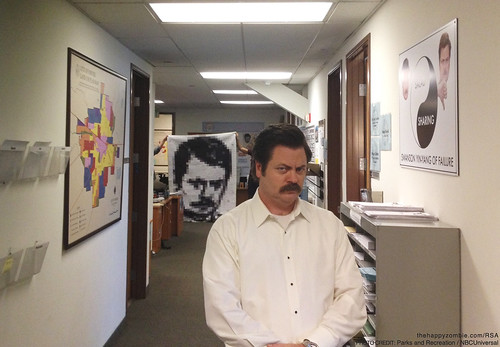 Ron Swanson Along - RonQuilt vists NBC's Parks and Recreation