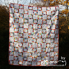 Pieced Scrap Border Quilt