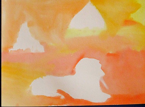 S's Dreaming of Egypt watercolor