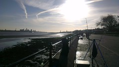 Liverpool from Vale Park Promenade Gates: Copyright 18th November, 2012 Kevin & Jane Moor