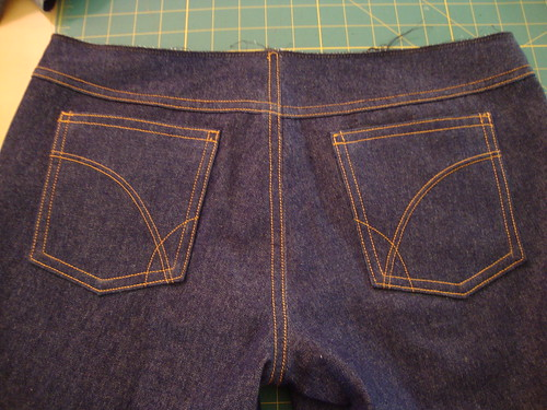 J. Stern Designs jeans in progress day 2