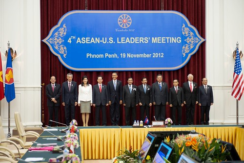 President Obama Poses for the ASEAN-U.S. Leaders' Meeting Family Photo