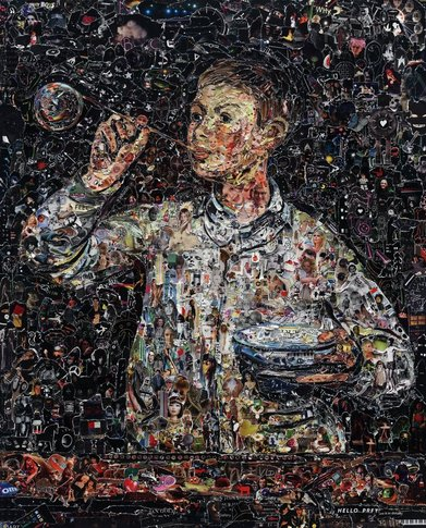 Vik Muniz, Boy Blowing Bubbles, after Manet, 2011
