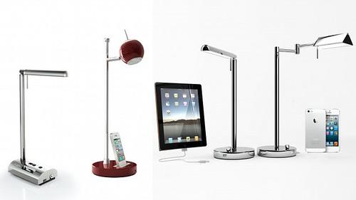 t'Light - настольная LED-лампа заряжает аккумулятор iPhone