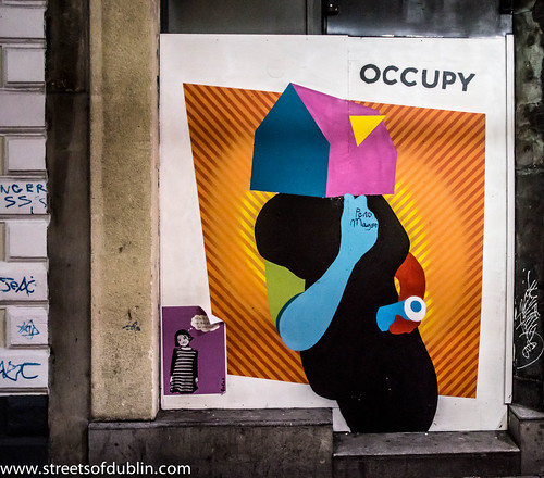The City Of Dublin At Night: Dublin Street Art by infomatique