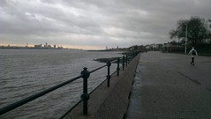 Liverpool from Vale Park Promenade Gates: Copyright 22nd November, 2012 Kevin & Jane Moor