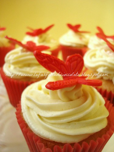 Red Butterflies cupcakes