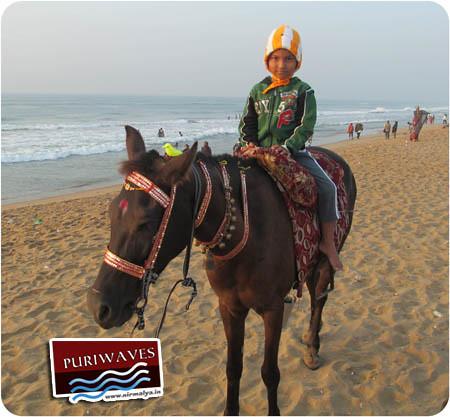 Little Tourist at Puri Sea Beach
