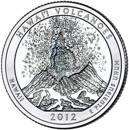 25 Centov USA 2011s Hawaii Volcanoes National Park