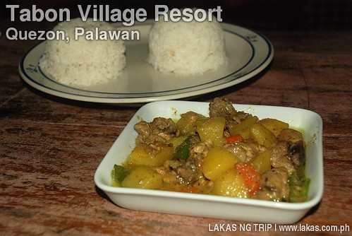 Chicken Curry and 2 Rice at Tabon Village Resort in Quezon, Palawan