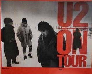 U2 War Tour poster