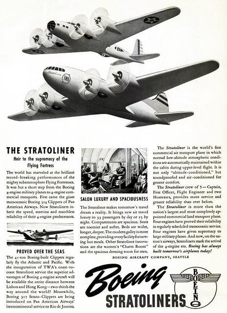 Boeing 307 Stratoliner ad