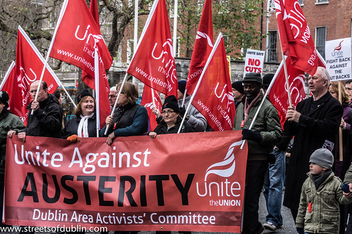 Protest: Unite Against Austerity by infomatique