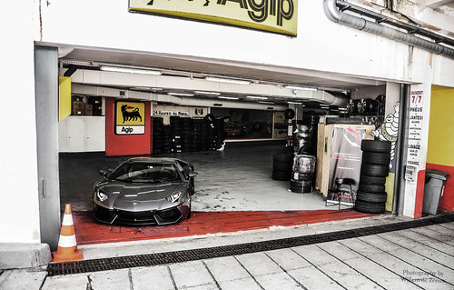 Aventador in workshop...