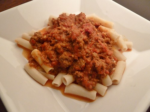 Weeknight Bolognese with Penne Rice Noodles