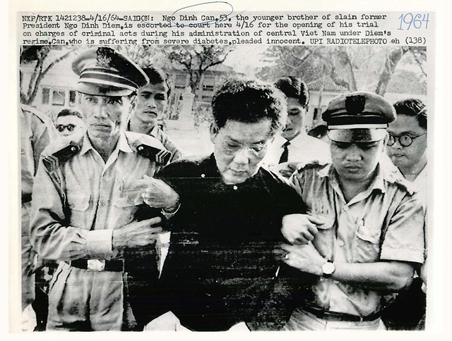 1964 Overlord Ngo Dinh Can Led To Court in Saigon for Trial