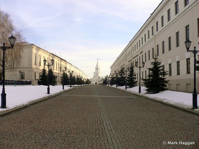 Inside the Kremlin in Kazan, Russia