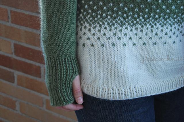 katie pattern handknit raglan top down pullover