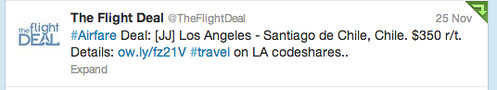 Sample Fares from The Flight Deal
