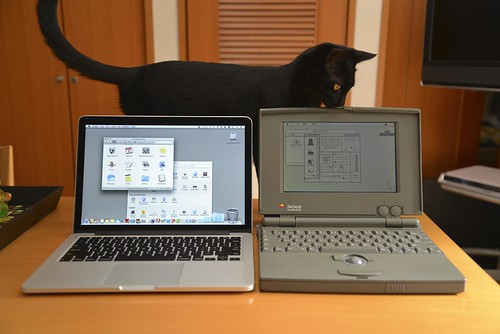 MacBook Pro Retina 13inch and PowerBook 100