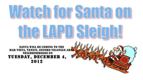 LAPD Santa Sleigh