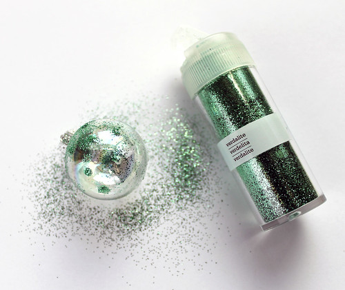 Retro Style Glass Glittered Ornaments