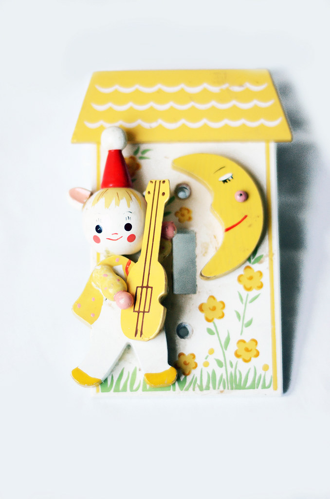 Vintage Children's Light Switchplate