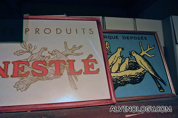 Products with old Nestle logos