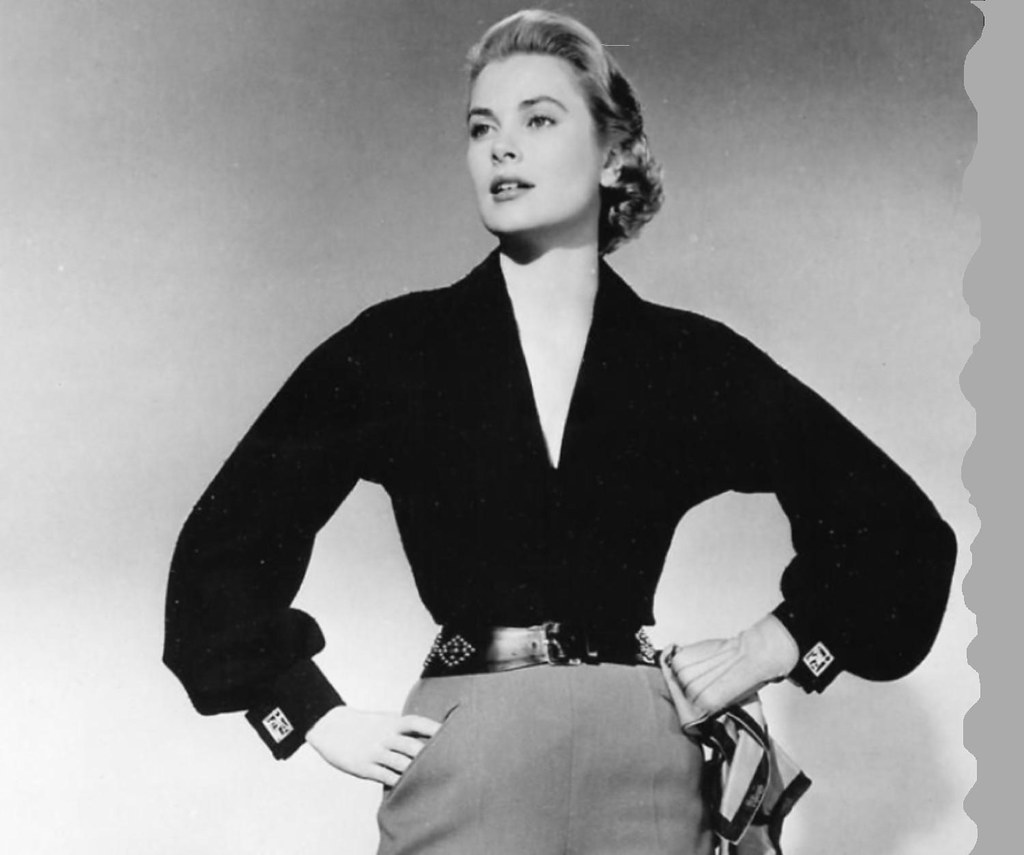 Grace Kelly Fashion Pose Around 1953 Maybe A Photo On