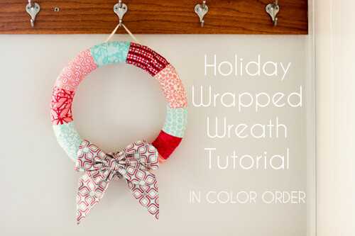 Holiday Wrapped Wreath Tutorial by Jeni Baker