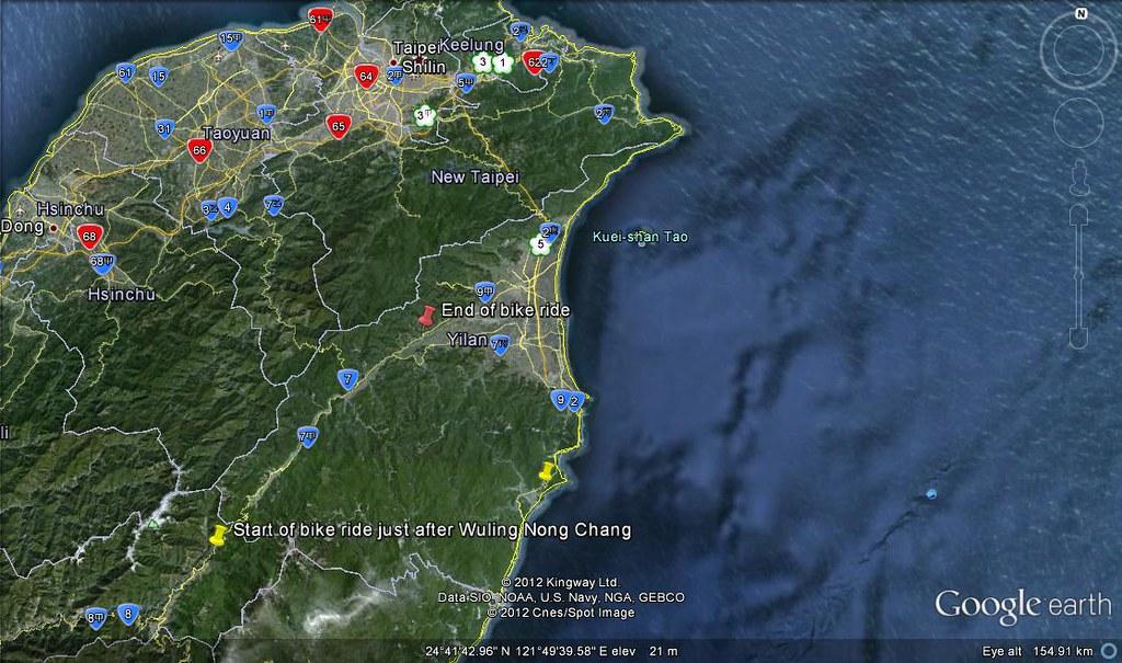 From WulingNongChang to Yilan bike ride