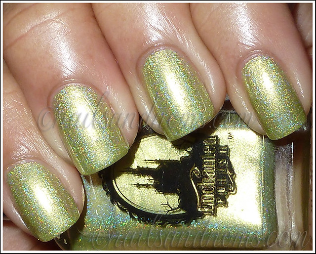 Enchanted Polish Ho Ho Holoday - Green Peace On Earth Flash 1