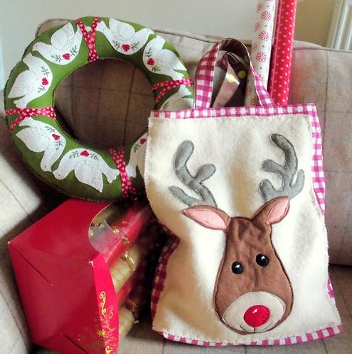 Christmas Reindeer Tote Bag