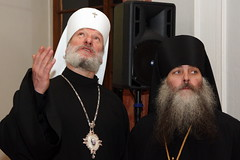 facial hair(1.0), clergy(1.0), archimandrite(1.0), bishop(1.0), metropolitan bishop(1.0), person(1.0), bishop(1.0), patriarch(1.0),