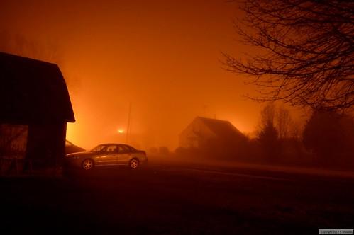 nightphotography fog night iowa plainfield nikond3200