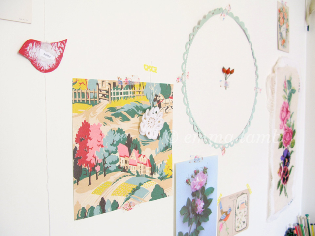 My inspiration wall | Emma Lamb