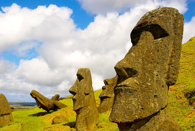 easter island travel, moai park