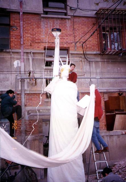 1996年南外艺术节,自由女神像