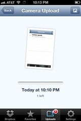 Dropbox iPhone Sync