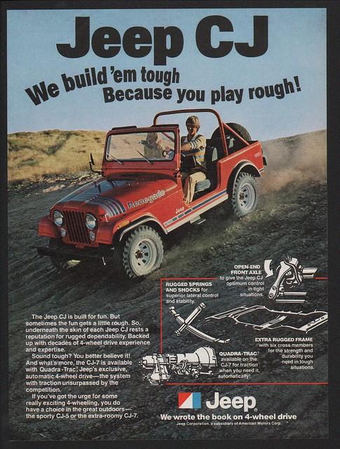 1979 JEEP CJ RENEGADE SUV 4X4 CJ-7 /& CJ-5 VINTAGE ADVERTISEMENT